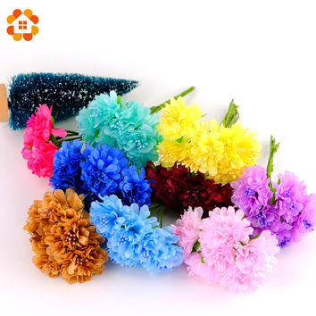 2015 3cm 12pcs/lot Silk artificial Stamen Scrapbooking Bouquet flower for home Garden wedding Car corsage decoration crafts
