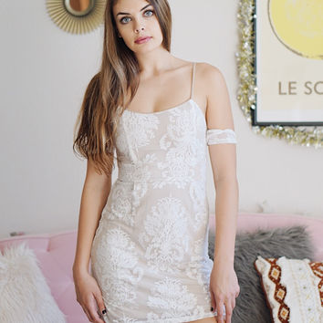 Erika Lace Off The Shoulder Dress