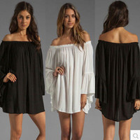 Chiffon One Piece Dress [4918573636]