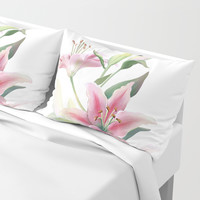 Lilium Pillow Sham by printapix