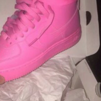 NEW Custom Pink Nike Air Force 1 from YvetteCouture on Etsy c74bebadf7f7