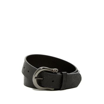 Robert Graham Men's Vince Black Leather Belt