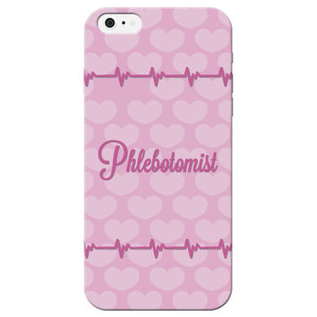 Pink Heart Phlebotomist Phone Case