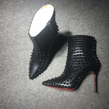 Christian Louboutin Cl Women Leather Ankle Boots Reference #27