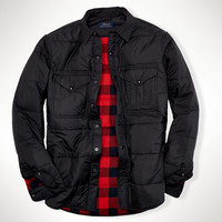 CHANNEL-QUILTED WORKSHIRT