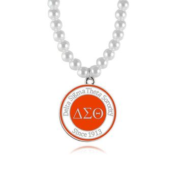 Delta Sigma Theta Sorority  Pearl Necklace  - DST since 1913!