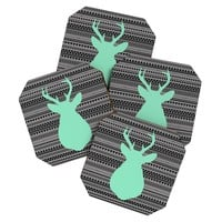 Allyson Johnson Deer And Aztec Coaster Set