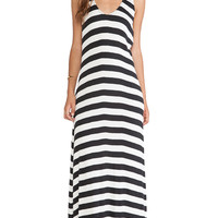 RVCA Artemisia Maxi Dress in Black & White
