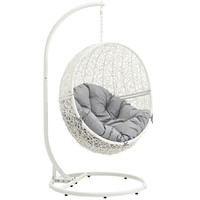 Hide Outdoor Patio Swing Chair White Gray