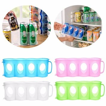 2017 New Plastic Beverage Beer Or Soda Can Storage Organizer Holder Kitchen Fridge Pantry Space Saver Organization Rack