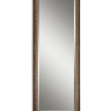 Lawrence Antiqued Finish Wall / Leaning Floor Mirror - 24.125W x 64.125H in. | www.hayneedle.com