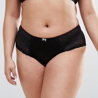 New Look Plus Lace Strap High Waist Briefs at asos.com