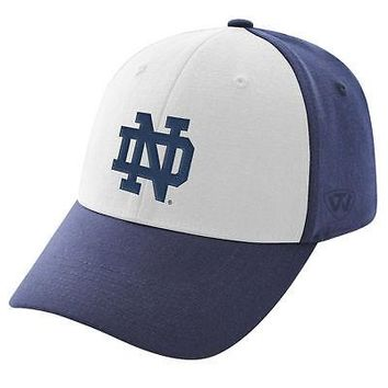 079a87e555d25 Licensed Notre Dame Fighting Irish NCAA One Fit Premium Cuff Hat Cap Top of  the World