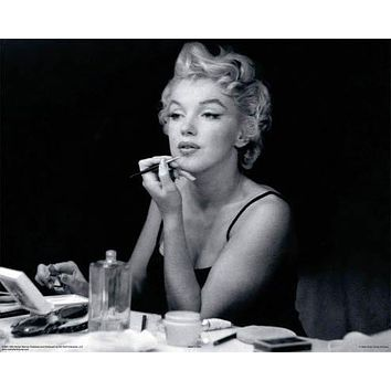 MARILYN MONROE MIRROR LIPSTICK MAKE UP POSTER NEW 24X36
