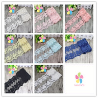 1y lot 12.5cm DIY Lace Cotton Ribbons for Wedding Favors and Gifts Party Decorations Arts Crafts Sewing Supply 17010045(12.5D1y)