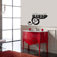 Housewares Wall Vinyl Decal Music Note Scale Treble Clef Any Room Decor Mural Sticker V174