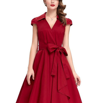 Belle Poque Women Summer Pin up Dress 2017 Office Wear Retro Woman Plus Size Clothing Robe Vintage 50s Rockabilly Casual Dresses