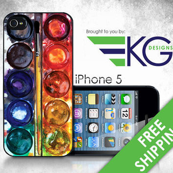 "iPhone 5 Hard Case - ""Water Colors"" - Phone Cover"