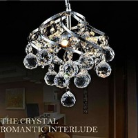 250mm Modern Luxury Fixture K9 Crystal Hanging Wire Ball Pendant Light Ceiling Living Room Chandelier E14 LED Bulb Lamp Lighting