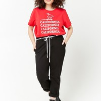 Plus Size Snoopy California Graphic Tee