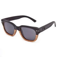 Proof Pledge Wood Polarized Sunglasses Black/Lacewood One Size For Men 24778714901