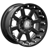 Jeep® Wheels - XD Series - XD 80779050724N - KMC Wheels XD Series™ 807 Strike in Flat Black for 07-up Jeep® Wrangler & Wrangler Unlimited JK and other Jeep Wrangler Parts, Jeep Accessories and Soft Tops by FORTEC