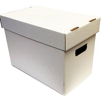 (1) Magazine Cardboard Storage Box - WHITE without Graphics by Max Pro