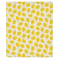 Lemon Fleece Throw