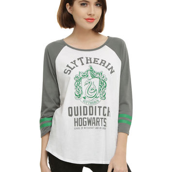 Harry Potter Slytherin Quidditch Girls Raglan