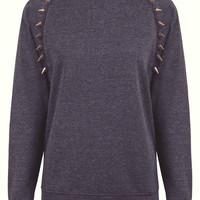 Phix Exclusive Gold Chunky Spike Jumper Charcoal