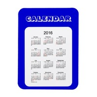 2016 Denim Blue Calendar by Janz 3x4 Magnet