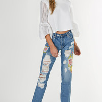 Bloomer Patched Distressed Jeans