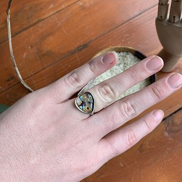 Large Moon Stone Ring