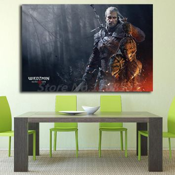 The Witcher 3 Wild Hunt Blood And Wine HD Wallpaper Canvas Posters Prints Wall Art Painting Decorative Picture Home Decoration