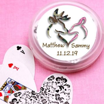 12 Buck and Doe Bridal Shower and Wedding Deck of Cards Favors