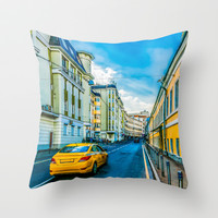 Yellow Taxi Throw Pillow by digital2real