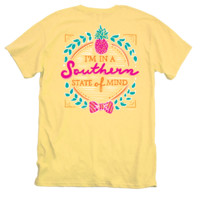 Itsa girl Thing Pineapple Bow Southern State of Mind Bright Girlie T-Shirt