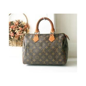 Tagre™ Louis Vuitton Monogram Speedy 25 handbag authentic vintage bag 80s
