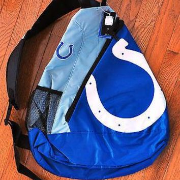 Indianapolis Colts BackPack / Back Pack Book Bag NEW - TEAM COLORS - SLING