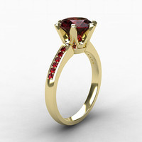 Garnet ring, ruby engagement, white gold, yellow gold, solitaire, Garnet engagement, pink, red, unique, pink ruby ring