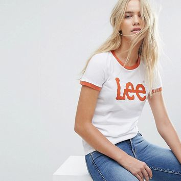 Lee Logo Ringer T Shirt at asos.com