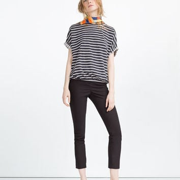 DOUBLE STRIPE FADED T - SHIRT-View all-WOMAN-NEW IN | ZARA Slovenia