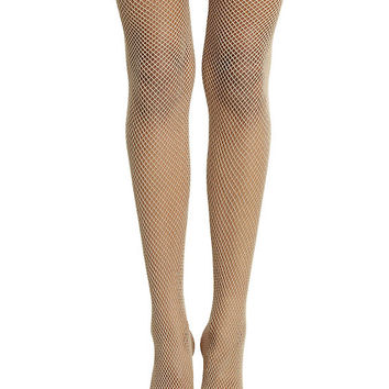 Blackheart Nude Fishnet Tights