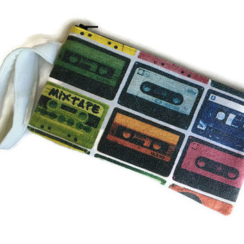 Mix Tape Clutch Tshirt Bag Cassette Tape Wristlet