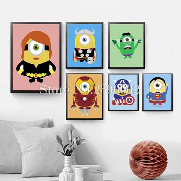 5D Diy Diamond Painting Cartoon Minions Hero 3d Cross Stitch Full Square Diamond Embroidery Home Decoration Wall Stickers