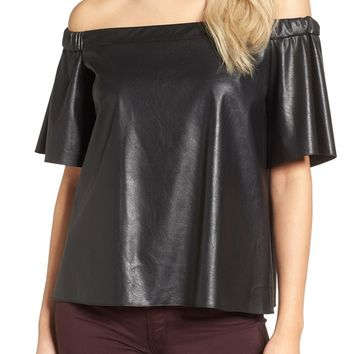 Bailey 44 Cindy Faux Leather Top | Nordstrom