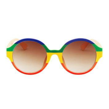 The Color Stripes Sunglasses Rainbow