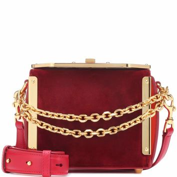 Box 16 velvet shoulder bag