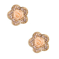 Daisy Button Earring   Shop Jewelry at Wet Seal