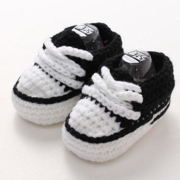 spring autumn winte baby boy girl crochet knitting line shoes toddler shoes newborn first walk knitting slippers Multi-color xz2